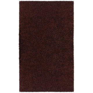 Hand-woven Brown Chenille Rug (4' x 6')