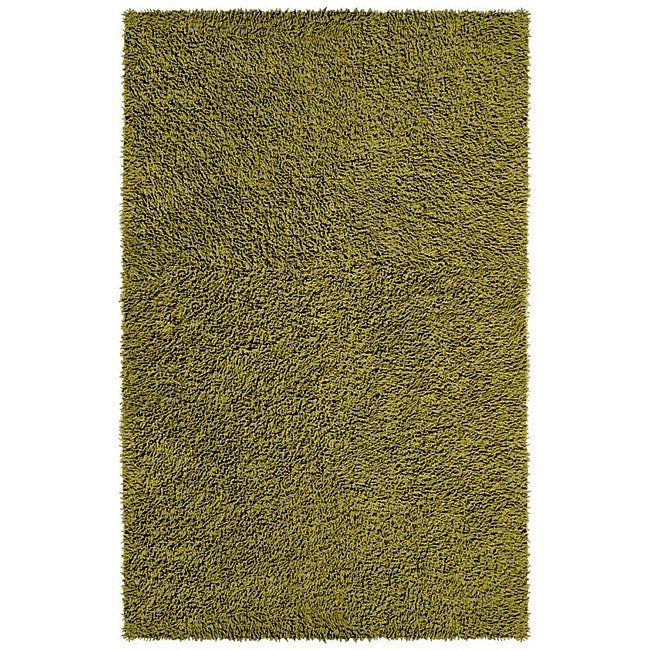 Hand Woven Moss Green Chenille Rug