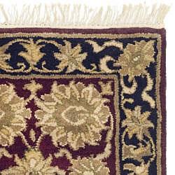 Safavieh Handmade Heirloom Burgundy/ Black Wool Rug (2' x 3') - Thumbnail 1