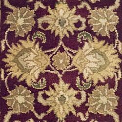 Safavieh Handmade Heirloom Burgundy/ Black Wool Rug (2' x 3') - Thumbnail 2