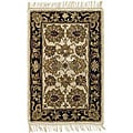 Safavieh Handmade Heirloom Ivory/ Black Wool Rug (2' x 3')