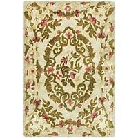 Safavieh Handmade Classic Ivory Wool Rug - Multi - 2' x 3'