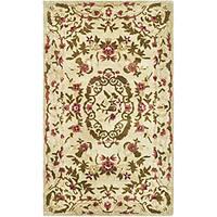 Safavieh Handmade Classic Ivory Wool Rug (3' x 5')