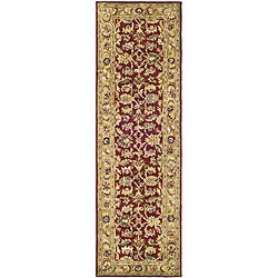 Safavieh Handmade Classic Red/ Gold Wool Runner (2'3 x 10')