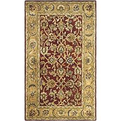 Safavieh Handmade Classic Rust/ Beige Wool Rug (3' x 5')