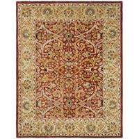 "Safavieh Handmade Heritage Timeless Traditional Red/ Gold Wool Rug - 9'6"" x 13'6"""