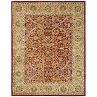 "Safavieh Handmade Heritage Timeless Traditional Red/ Gold Wool Rug - 8'3"" x 11'"