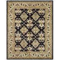 Safavieh Handmade Heritage Timeless Traditional Black/ Ivory Wool Rug - 6' x 9'
