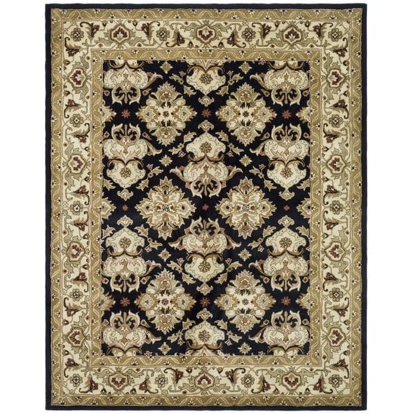 Safavieh Handmade Heritage Timeless Traditional Black/ Ivory Wool Rug - 8'3 x 11'