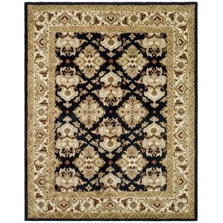 Safavieh Handmade Heritage Timeless Traditional Black/ Ivory Wool Rug (8'3 x 11')