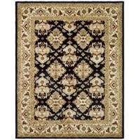 "Safavieh Handmade Heritage Timeless Traditional Black/ Ivory Wool Rug - 8'3"" x 11'"