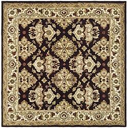 Safavieh Handmade Heritage Timeless Traditional Dark Mocha/ Ivory Wool Rug (6' Square)