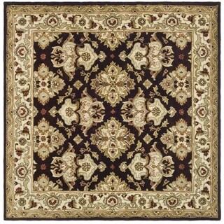 Safavieh Handmade Heritage Timeless Traditional Dark Mocha/ Ivory Wool Rug (8' Square)