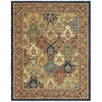 Safavieh Handmade Heritage Timeless Traditional Multicolor/ Burgundy Wool Rug - 9'6 x 13'6