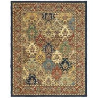 "Safavieh Handmade Heritage Timeless Traditional Multicolor/ Burgundy Wool Rug - 9'6"" x 13'6"""