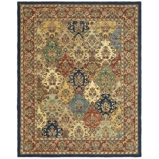 Safavieh Handmade Heritage Timeless Traditional Multicolor/ Burgundy Wool Rug (9'6 x 13'6)