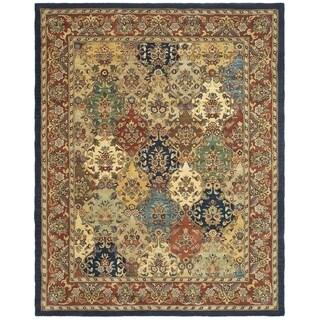 Safavieh Handmade Heritage Timeless Traditional Multicolor/ Burgundy Wool Rug (7'6 x 9'6)
