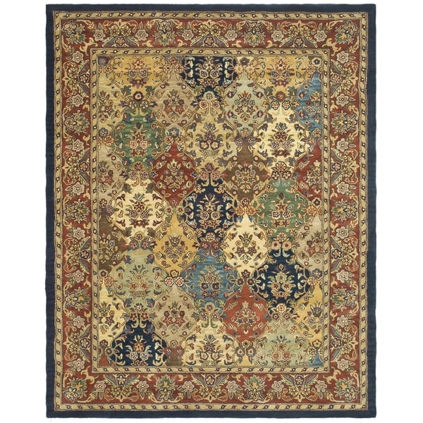 Safavieh Handmade Heritage Timeless Traditional Multicolor/ Burgundy Wool Rug (8'3 x 11')