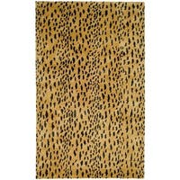 "Safavieh Handmade Soho Leopard Skin Beige New Zealand Wool Rug - 3'-6"" X 5'-6"""