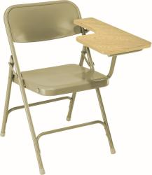 National Public Seat Manitoba Maple Left Tablet Arm Folding Chair - Set of 2