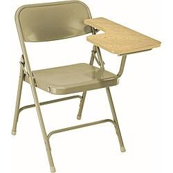 NPS Light Oak Left Arm Folding Tablet Chairs (Pack of 2)