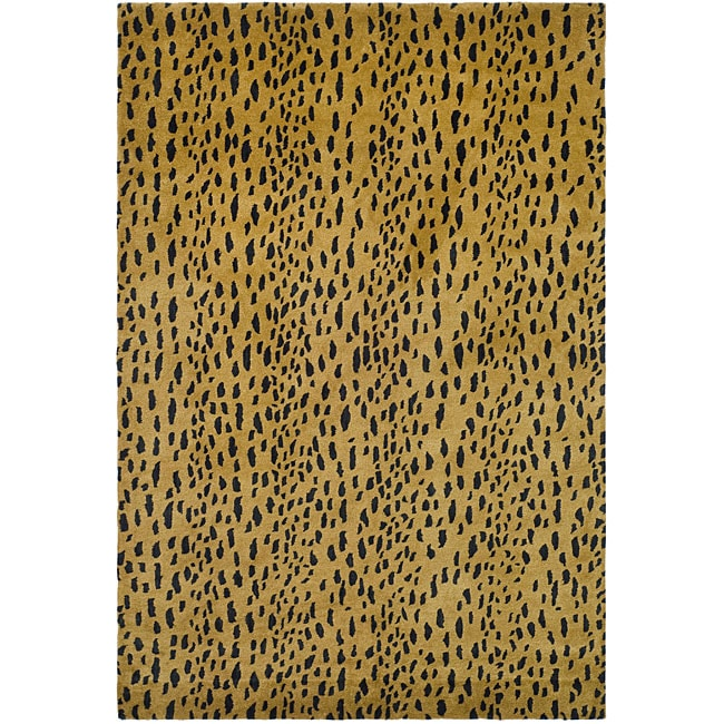 Safavieh Handmade Soho Leopard Skin Beige New Zealand Wool