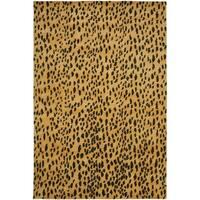 Safavieh Handmade Soho Leopard Skin Beige New Zealand Wool Rug - 6' X 9'
