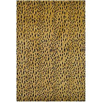 Safavieh Handmade Soho Leopard Skin Beige New Zealand Wool Rug - 7'6 x 9'6