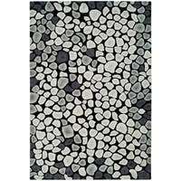 Safavieh Handmade Soho Pebbles Black/ Grey New Zealand Wool Rug - 5' x 8'
