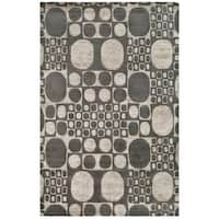 "Safavieh Handmade Soho Deco Stones Grey New Zealand Wool Area Rug - 7'6"" x 9'6"""