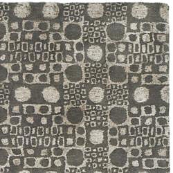 Safavieh Handmade Soho Deco Stones Grey New Zealand Wool Rug (7'6 x 9'6)