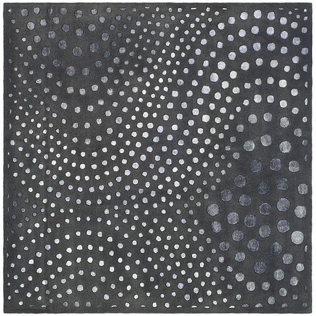 Safavieh Handmade Soho Abstract Wave Dark Grey Wool Rug - 6' x 6' Square