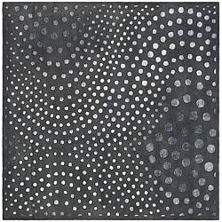 Safavieh Handmade Soho Abstract Wave Dark Grey Wool Rug - 6' x 6' Square - Thumbnail 0