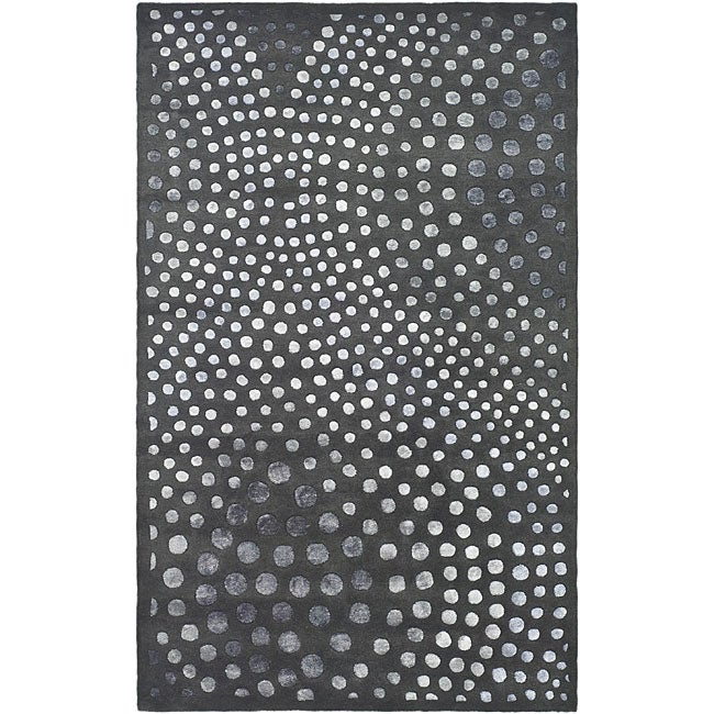 Safavieh Handmade Soho Abstract Wave Dark Grey Wool Rug