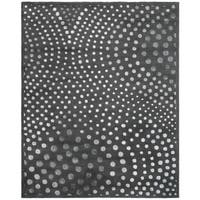 "Safavieh Handmade Soho Abstract Wave Dark Grey Wool Rug - 7'-6"" x 9'-6"""