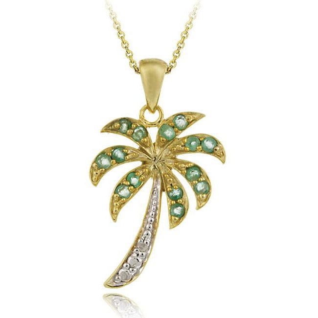 palmtree jewelry shop glitzy rocks gold silver emerald and 4848