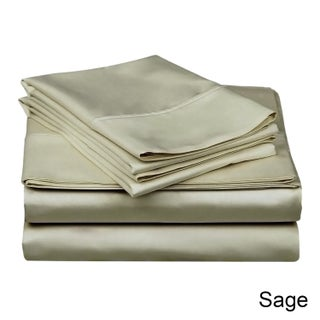 Superior 300 Thread Count Deep Pocket Cotton Sateen Sheet Set (More options available)