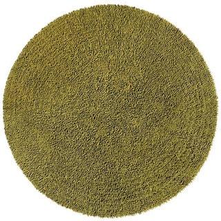 Hand-woven Moss Chenille Shag Rug (5' Round)