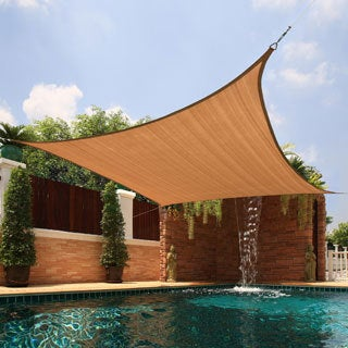 Porch & Den Sunset Park Brennan Large Square Sail Sun Shade