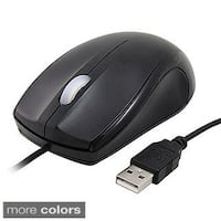 INSTEN Red/ Black USB Optical Scroll Wheel Mouse (Right Handed)