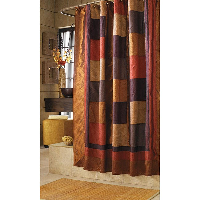 Kashmir Multicolor Southwestern-style Nylon/Polyester Shower Curtain