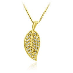Icz Stonez 18k Goldplated Sterling Silver Cubic Zirconia Leaf Necklace