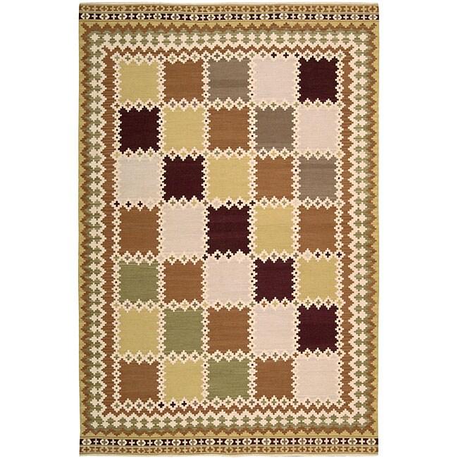 Nourison Hand-woven Dakota Multicolor Wool Rug (5'5 x 7'4)