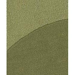 Handmade Moss Green Border Rug (6' Round) - Thumbnail 1