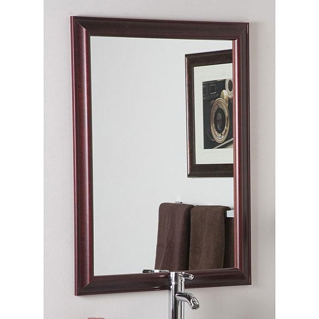 London Mahogany Framed Wall Mirror
