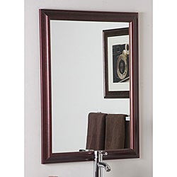 Red Mahogany Medicine Cabinet Double Sided Mirror Free