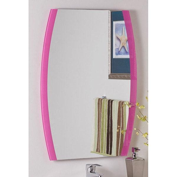 Paula's Pink Frameless Wall Mirror