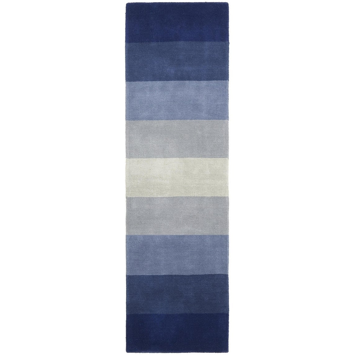 Hand-tufted Blue Stripes Runner Rug (2'6 x 8'), Size 2'6 ...