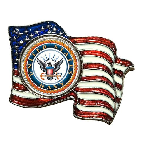 American Coin Treasures Colorized Navy Quarter Flag Pin