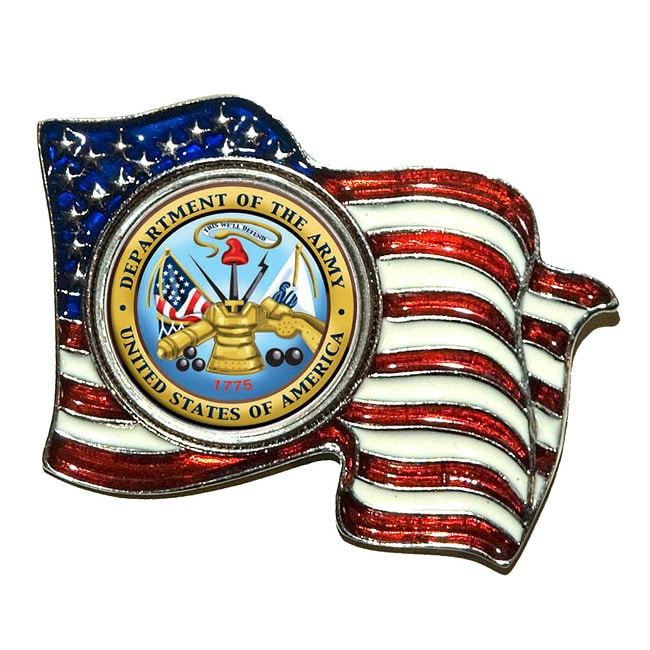 American Coin Treasures Colorized Army Quarter Flag Pin